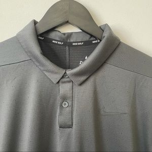 Nike Golf Dri-Fit Men's Dotted Texture Polo Shirt
